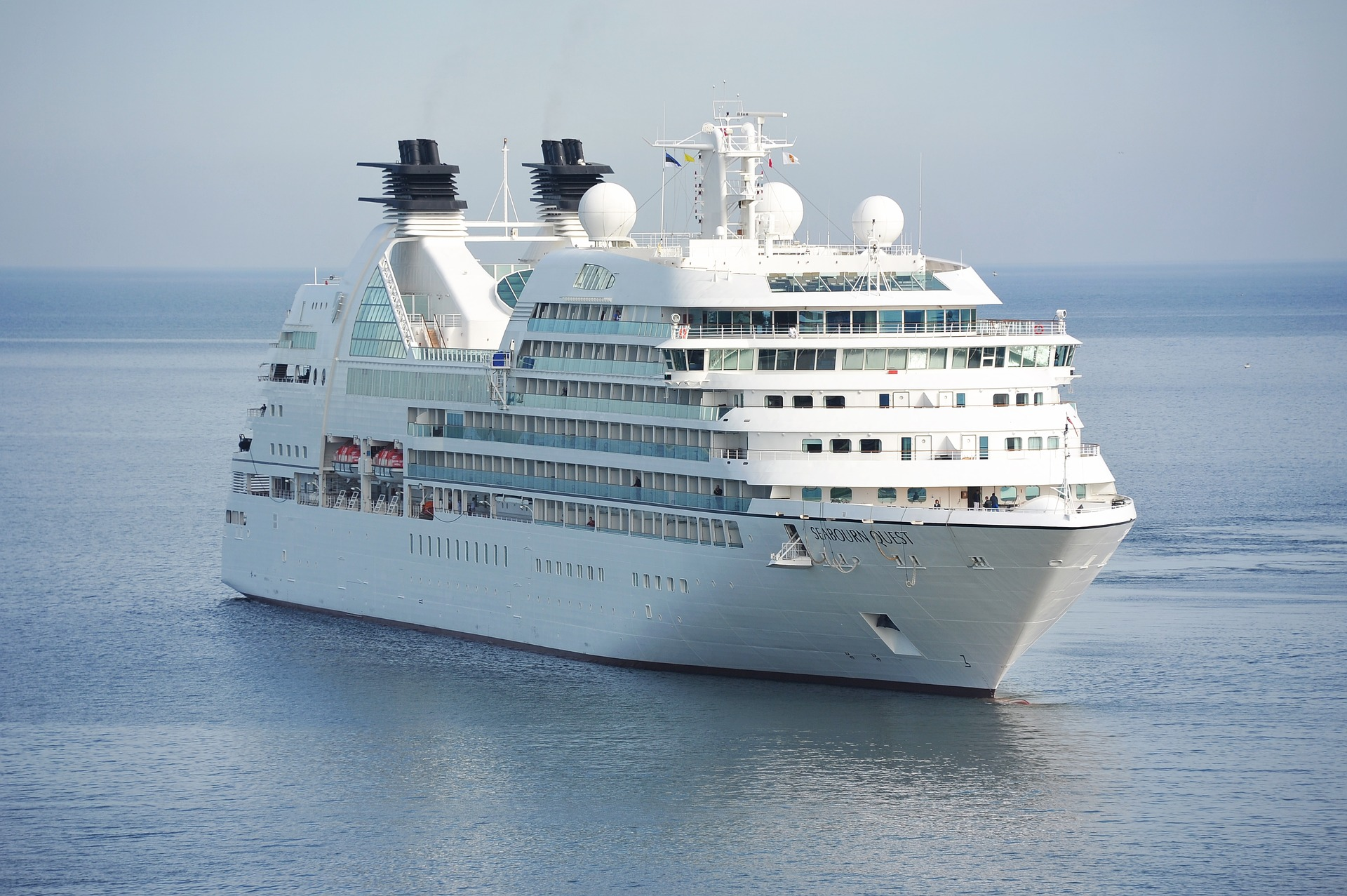 Cruise ship Seabourn Quest on the ocean